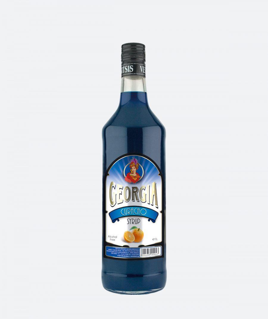 Georgia Blue Curacao Syrup, Χωρίς αλκοόλ